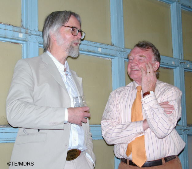 John Sears chats to MDRS Secretary Malcolm Margetts