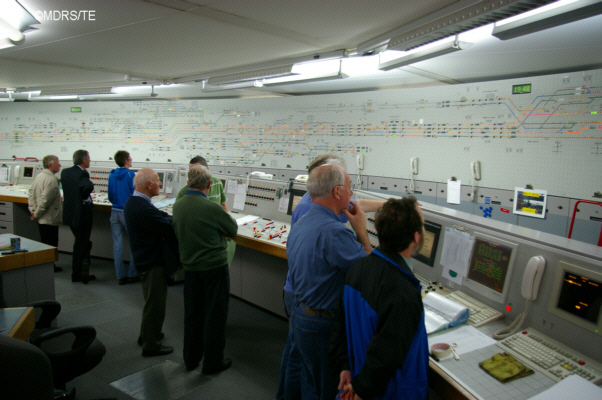 Members at the mainline signalling centre