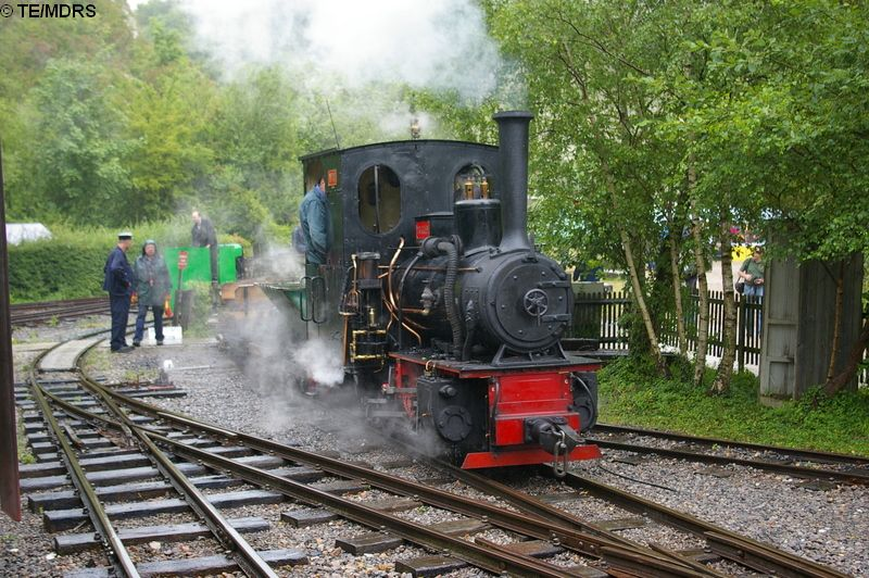 P.C. Allen entering Brockham Station